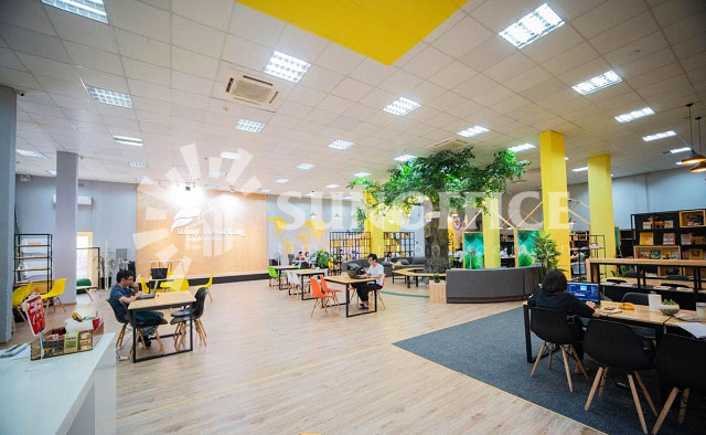Funny Coworking Space thiết kế trả trung, cuốn hút